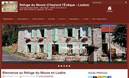 Nouveau site du Refuge du Moure - Loz�re